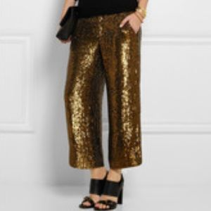 J Crew Sequin Cropped Pants